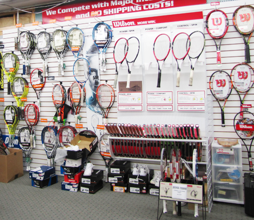 wall of rackets